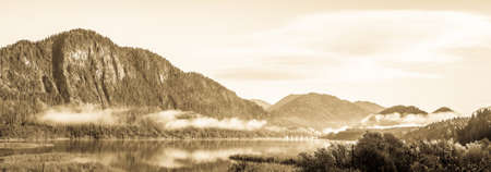 landscape at the sylvenstein lake - bavaria