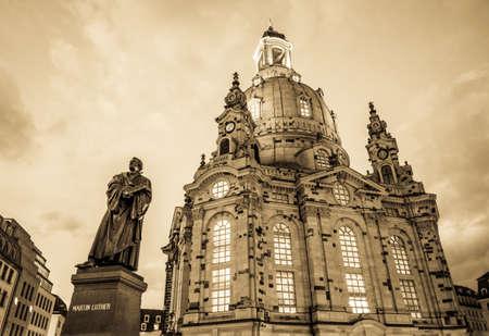 famous frauenkirche in dresden - germany