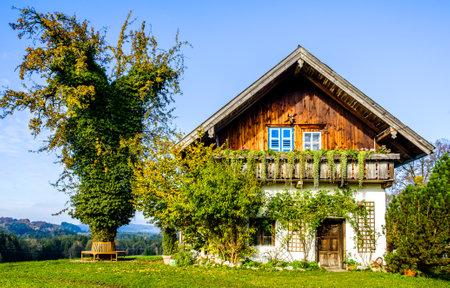 cranesbill: old bavarian farmhouse near munich - germany
