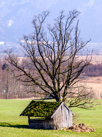 old blockhouse at the european alps Stock Photo