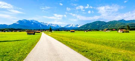 view from wallgau - bavaria - wetterstein mountains