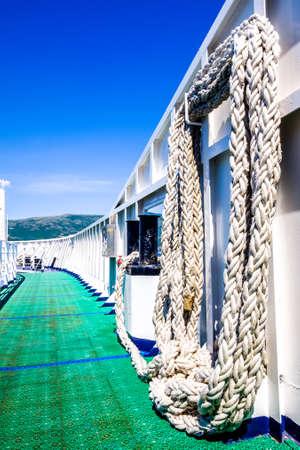 ship bollard at a modern ferry