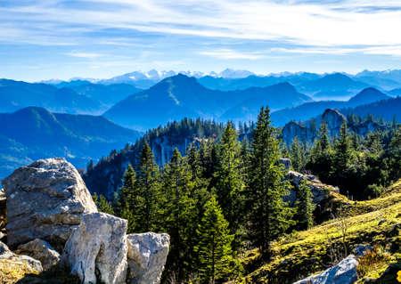 kampenwand mountain at the chiemsee lake in bavaria Stock Photo