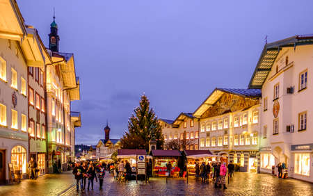 BAD TOELZ, GERMANY - NOVEMBER 25: people at the famous christmas market on November 25, 2017 in Bad Toelz, Germany Editorial