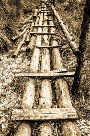 old wooden bridge at a forest Stock fotó