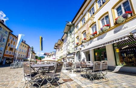 BAD TOELZ, GERMANY - JULY 16: old town of bad toelz - bavaria on July 16, 2017
