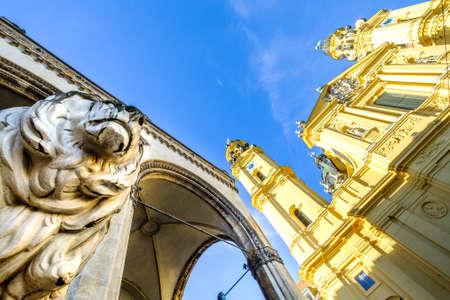 famous theatiner church in munich - germany Editorial
