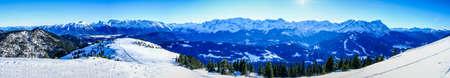 view from wank mountain near garmisch-partenkirchen in germany Stock Photo