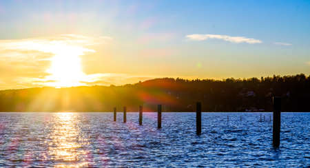 starnber lake in bavaria Stock Photo