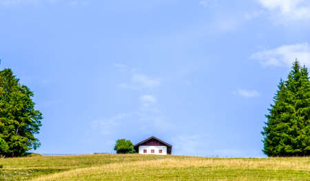 typical old bavarian farmhouse - germany