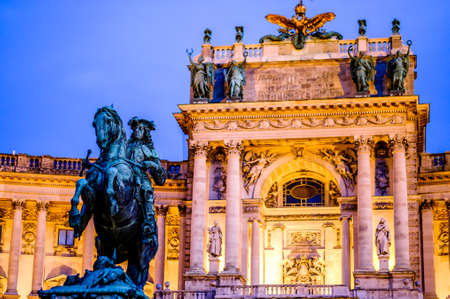 the famous hofburg building in vienna - austria