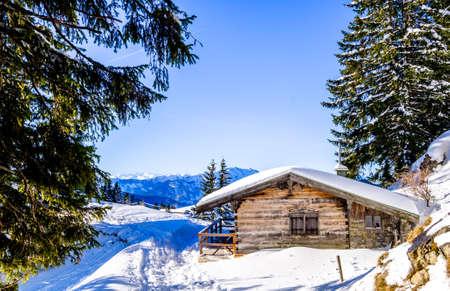 bavarian landscape in winter - european alps