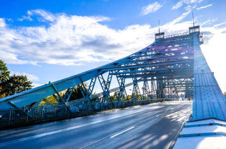 famous bridge in germany - dresden - called blaues wunder