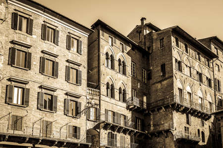 old town in italy - siena Stock Photo