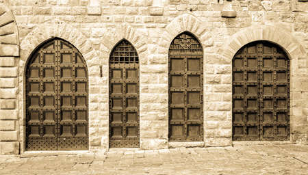 old entrance doors