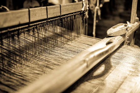old weaving loom - closeup - photo