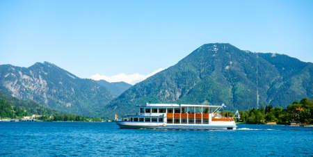 famous tegernsee lake in bavaria - germany 写真素材