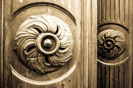 close up of an old door Stock Photo