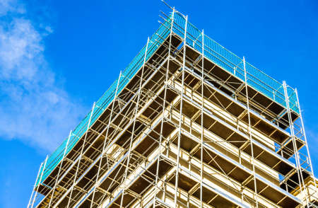 modern scaffolding at a construction site Stockfoto