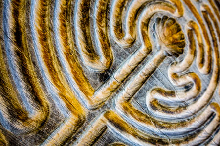 close up of a wooden maze 写真素材