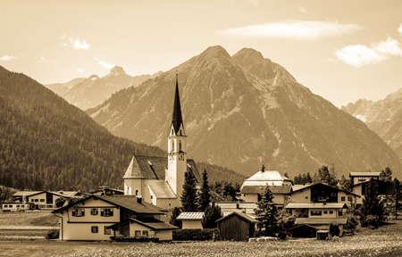 typical church at the european alps