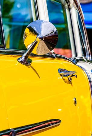 part of a vintage car - photo