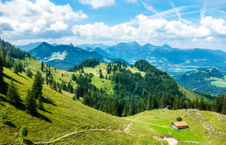 view from hochries mountain - bavaria