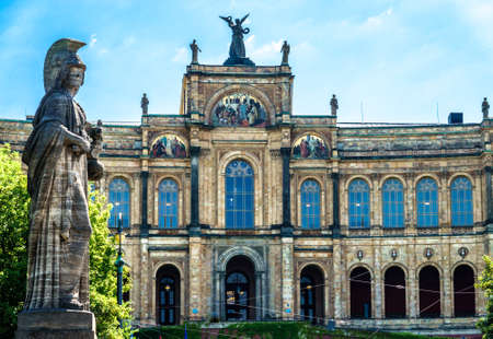 facade of the famous maximilianeum at munich/germany