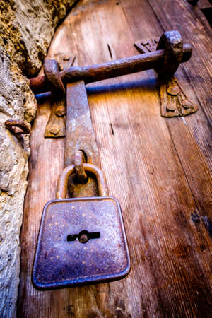 old lock at a stable - close-up Standard-Bild - 105993764