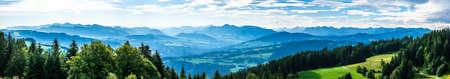 view from pfander mountain in bregenz - austria