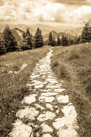 old footpath at a mountain Stock Photo