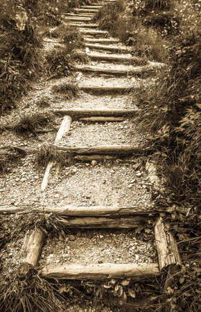 old footpath at a mountain