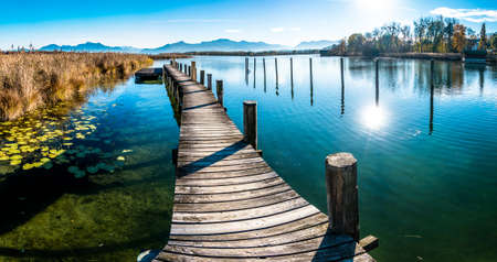 scenery at lake chiemsee - bavaria - germany Stock Photo