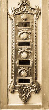 old bell buttons at a villa Standard-Bild
