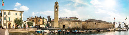 famous old town of lazise at the garda lake