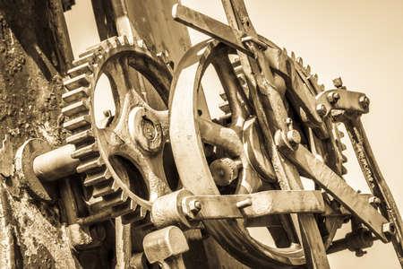 old used gear wheels -