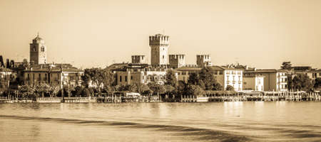 old town of sirmione - lake garda - italy