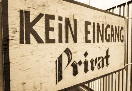 no entrance sign in germany - kein Eingang - translation: no entrance - private