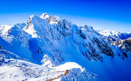famous inn valley and innsbruck in austria - nordkette mountain Reklamní fotografie