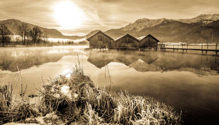 kochel lake - bavaria - germany - european alps Banque d'images