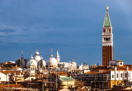 A view of the Campanile at St Marks Square in venice - italy Reklamní fotografie