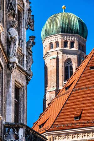 Munich Cathedral - Liebfrauenkirche in Munich - germany Stok Fotoğraf - 124775436