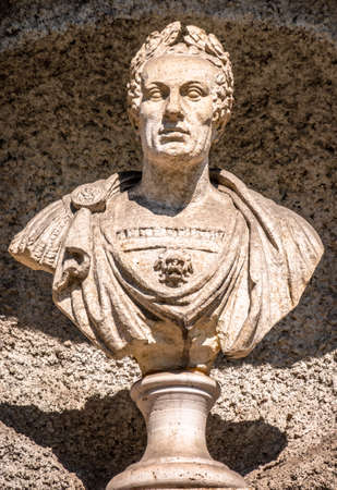 historic statue of an italian imperator - photo
