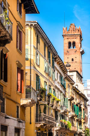 famous old town of verona in italy Banque d'images