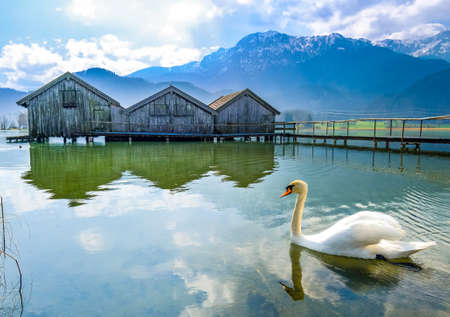 kochel lake - bavaria - germany - european alps 写真素材