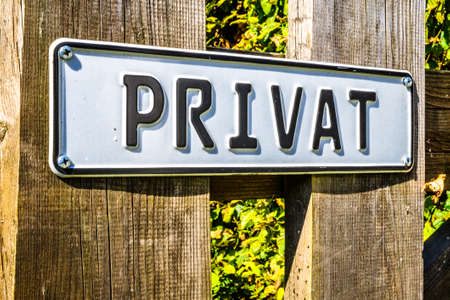 old private sign in germany