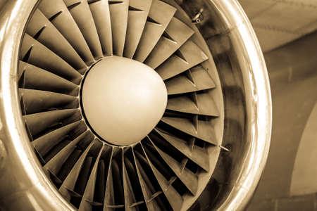 modern turbine at a plane