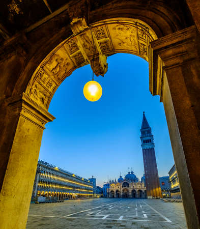 A view of the Campanile at St Marks Square in venice - italy 報道画像