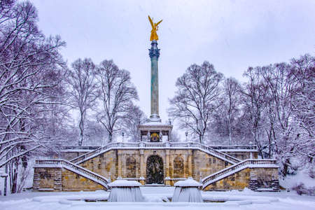 famous friedensengel in munich - germany - Bogenhausen - 1896