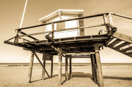 old lookout tower at the northsea